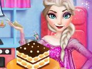 Elsa Cooking Tiramisu