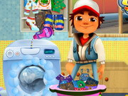 Subway Surfer Washing Clothes